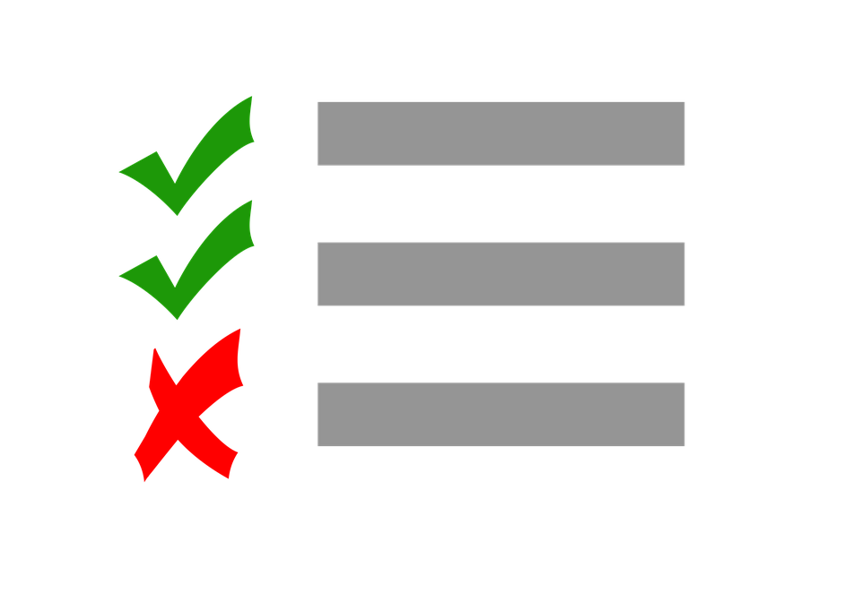 checklist test check cross correct right wrong - Free PNG Test