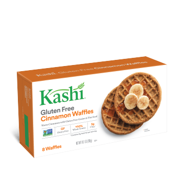 Package shot for Kashi® Cinnamon Waffles, Gluten-Free - Free PNG Waffles
