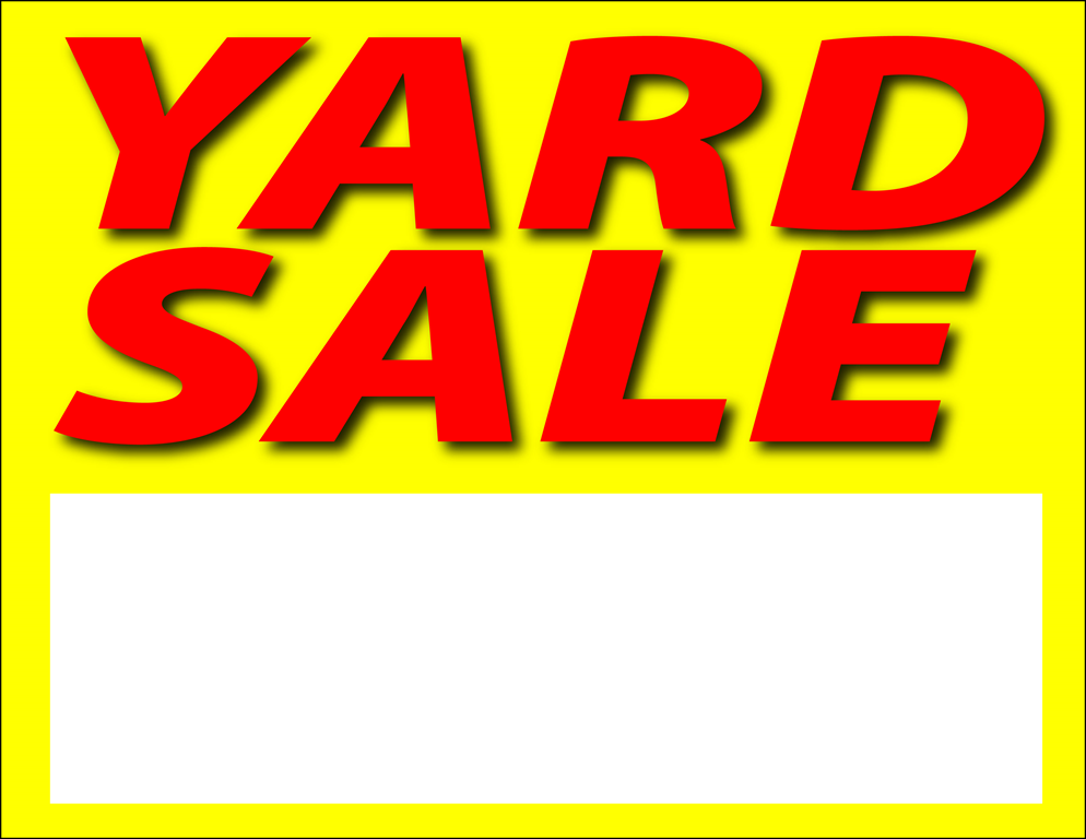Free PNG Yard Sale Sign - 40678