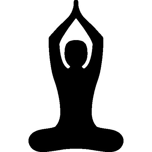 Buddhist Yoga Pose free icon