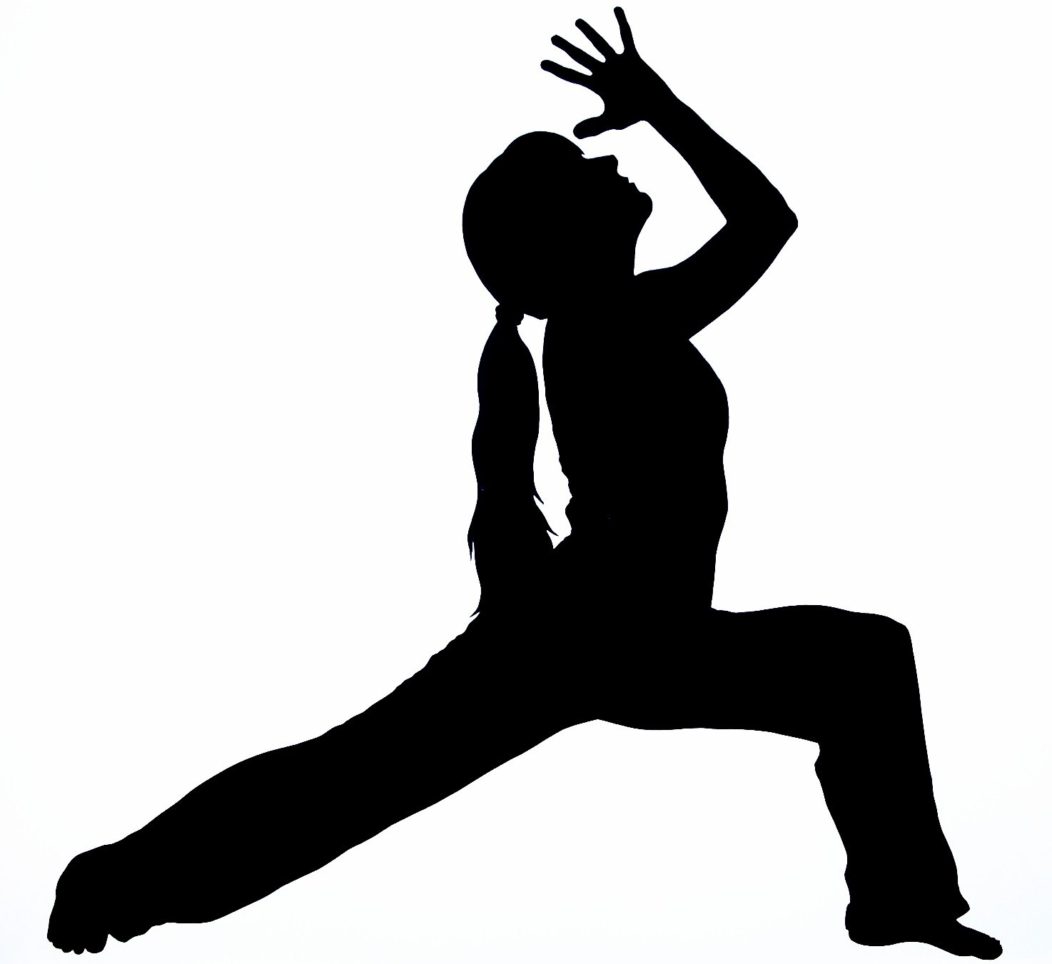 Free yoga clipart silhouette