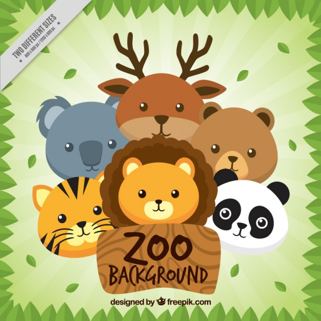Nice animals zoo background - Free PNG Zoo Animals
