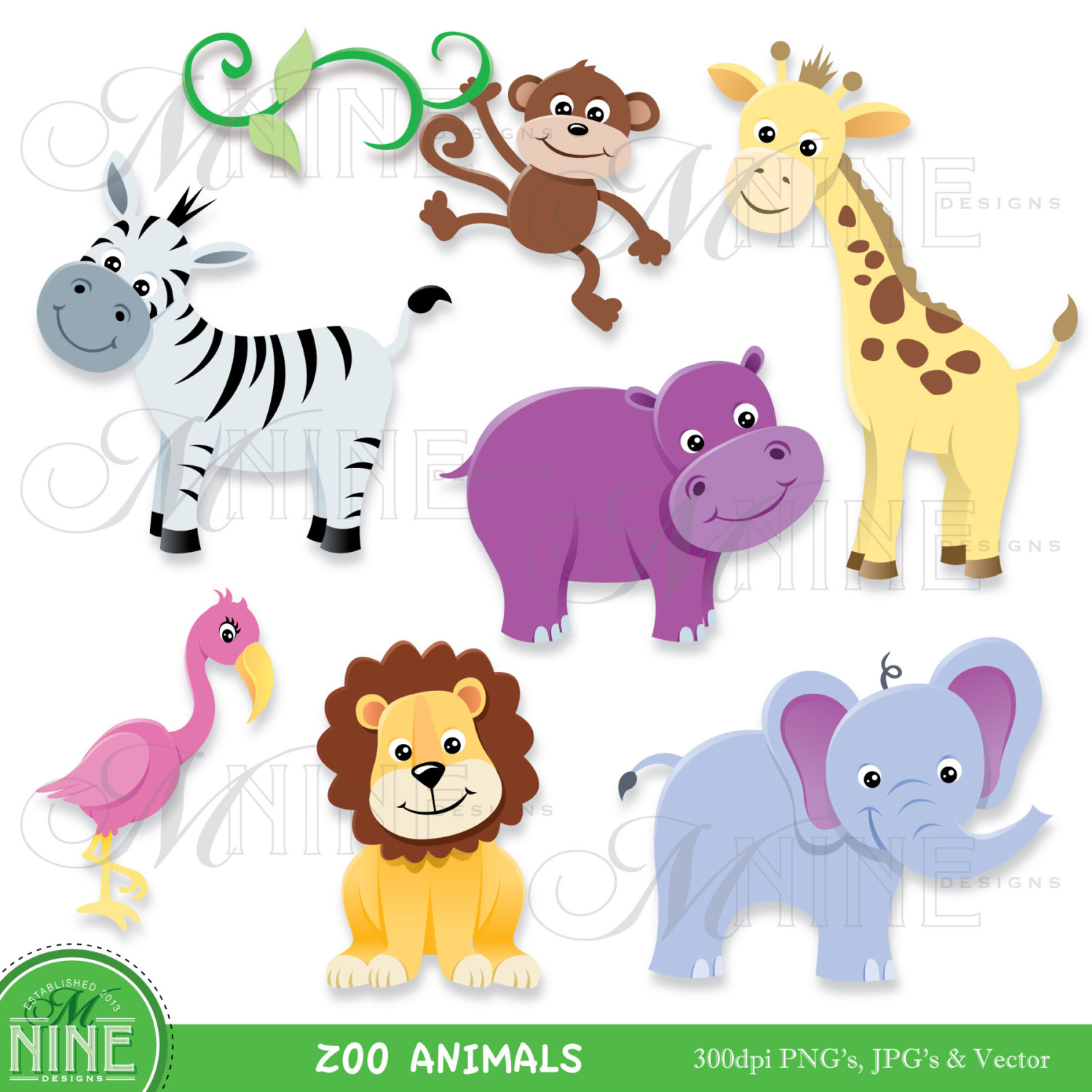 pin Baby Animal clipart zoo animal #3 - Free PNG Zoo Animals