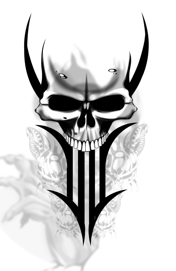 1d2a63b43 Tribal Skull Tattoos PNG Transparent Tribal Skull Tattoos.PNG Images ...