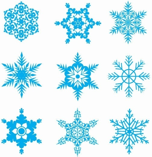 Free Snowflakes Vector Set