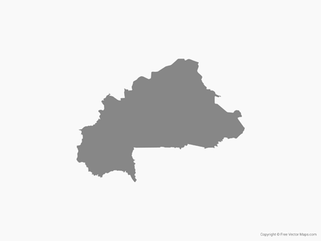Free Vector Map of Burkina Faso - Single Color - Burkina Faso PNG
