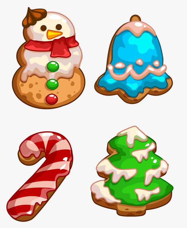 christmas cookies, Christmas, Christmas Eve, Western New Year PNG and PSD - Free Western Holiday PNG