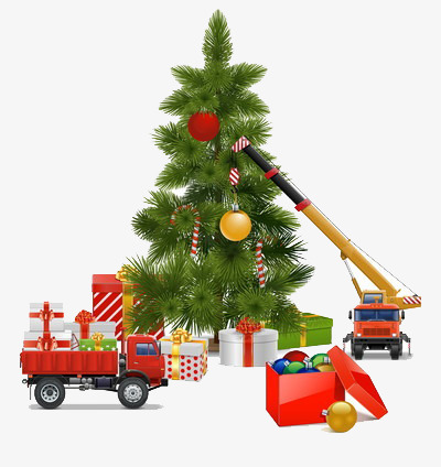 western holiday decoration christmas tree, Truck, Red, Gift PNG Image and  Clipart - Free Western Holiday PNG