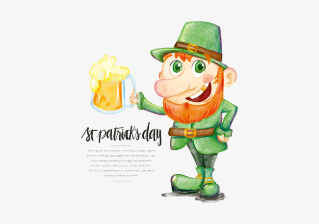 western st. patricku0027s day wizard, Christian, Ireland, Western Festivals PNG  and PSD - Free Western Holiday PNG