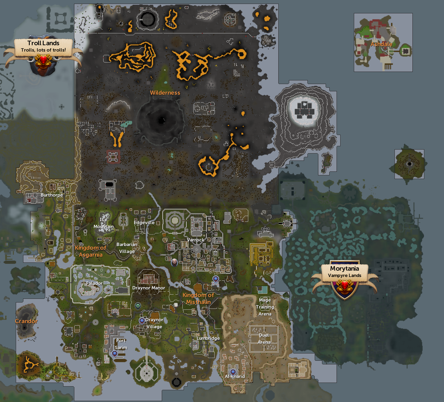 RuneScape Free Map.png - Freemap PNG