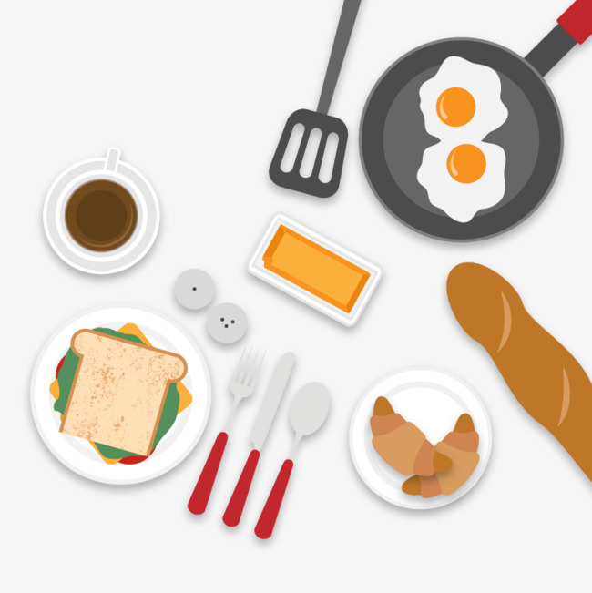 Vector Breakfast, HD, Vector, Fried Eggs Free PNG and Vector - Fried Egg PNG HD