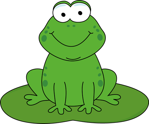 Cartoon Frog On A Lily Pad Cartoon Frog On A Lily Pad Image - Frog On Lily Pad PNG