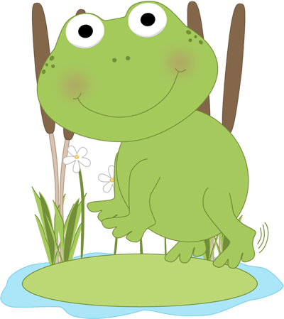 Frog On A Lily Pad Clipart - Frog On Lily Pad PNG