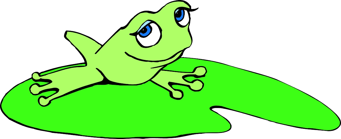 Frog On Lily Pad Clipart - Frog On Lily Pad PNG