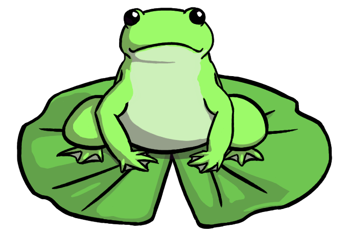 Frog On Lily Pad PNG HD