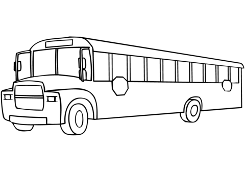 School Bus Coloring Page Free Printable Pages Pertaining To Design 11