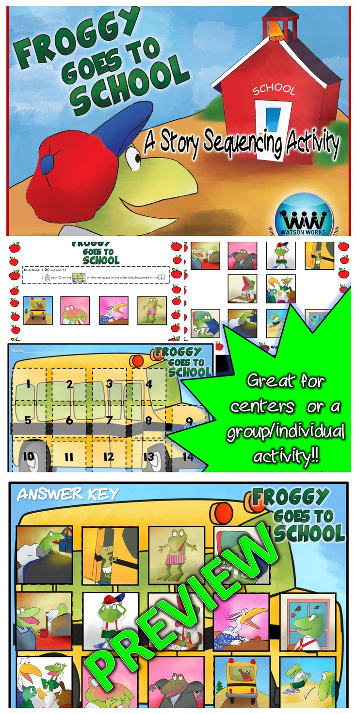 Froggy Goes to School: A Story Sequencing Activity - Froggy Goes To School PNG