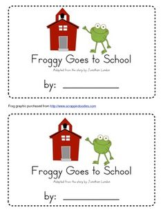 Froggy Goes to School Emergent Reader - Froggy Goes To School PNG