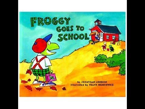 FROGGY GOES TO SCHOOL Read Along Aloud Story Audio Book for Children and  Kids - YouTube - Froggy Goes To School PNG