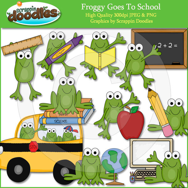- Froggy Goes To School PNG