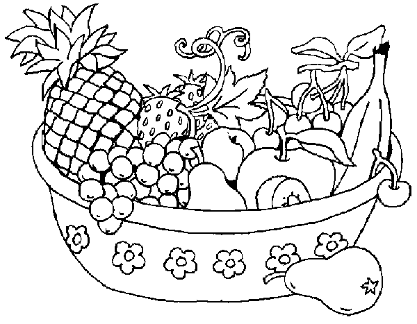 Fruit And Vegetables Clip Art .. - Fruit And Veg PNG Black And White