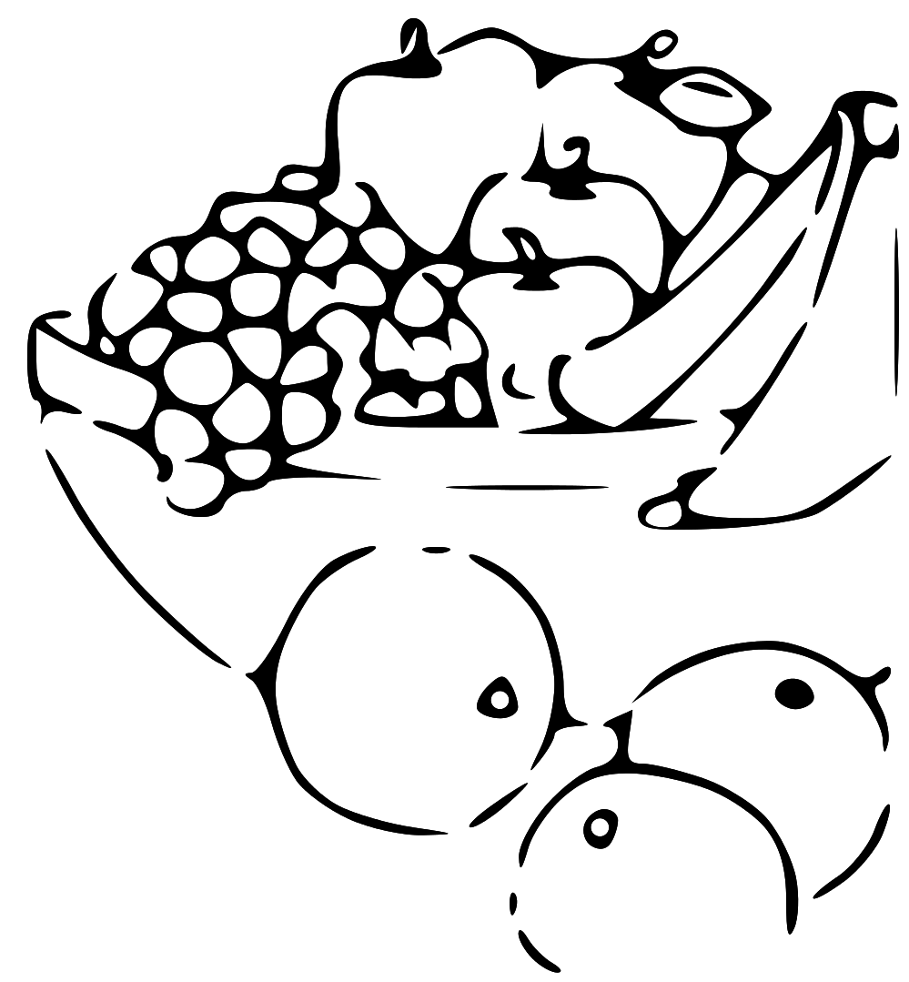 Fruit black and white black and white clipart of fruits logo more 3 - Fruit And Veg PNG Black And White