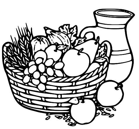 pin Vegetable clipart fruit bowl #6 - Fruit And Veg PNG Black And White