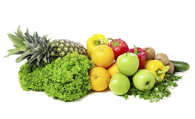 Fruit and vegetables. iStock_000072572657_fruitveg - Fruits And Vegetables PNG HD