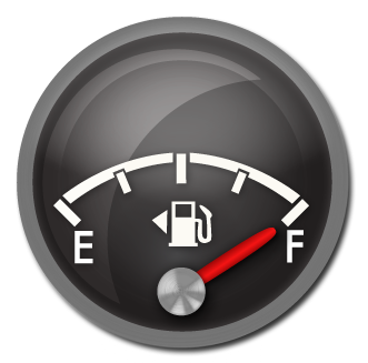 A few months ago, I learned about one of the best kept secrets in the  automotive world called the fuel gauge arrow. Have you ever rented or  borrowed a car PlusPng.com  - Fuel Gauge PNG