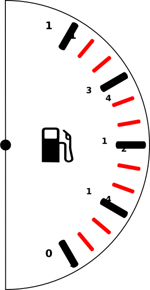 Download this image as: - Fuel Gauge PNG