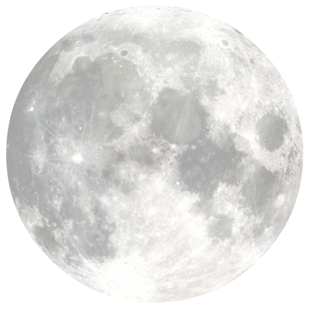 Full Moon PNG Black And White - 138499