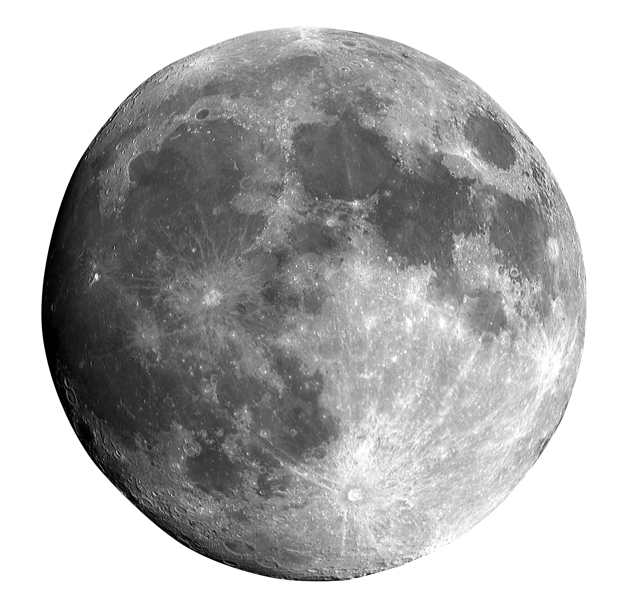 Full Moon PNG Black And White - 138488