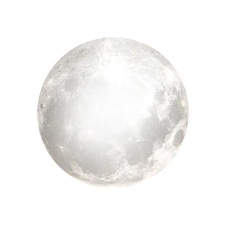 Full Moon PNG Black And White - 138489