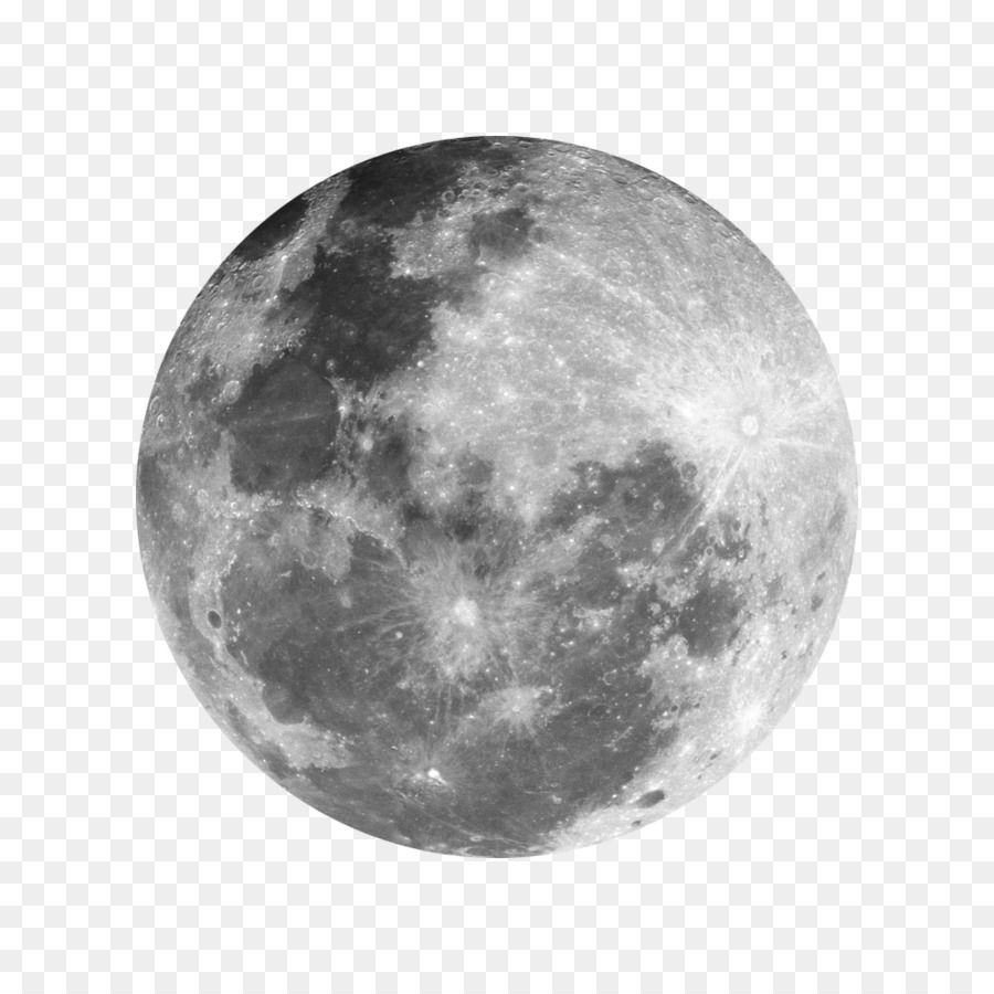 Full Moon PNG Black And White - 138494