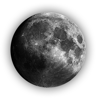 Full Moon PNG Black And White - 138498