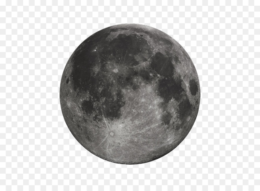 Full Moon PNG Black And White - 138493
