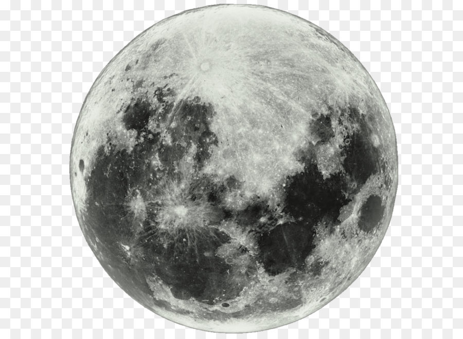 Full Moon PNG Black And White - 138487