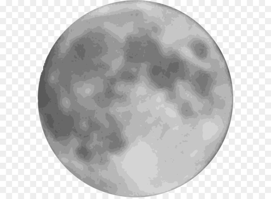 Full Moon PNG Black And White - 138490