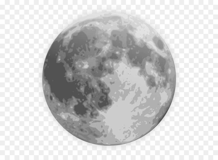 Full Moon PNG Black And White - 138491