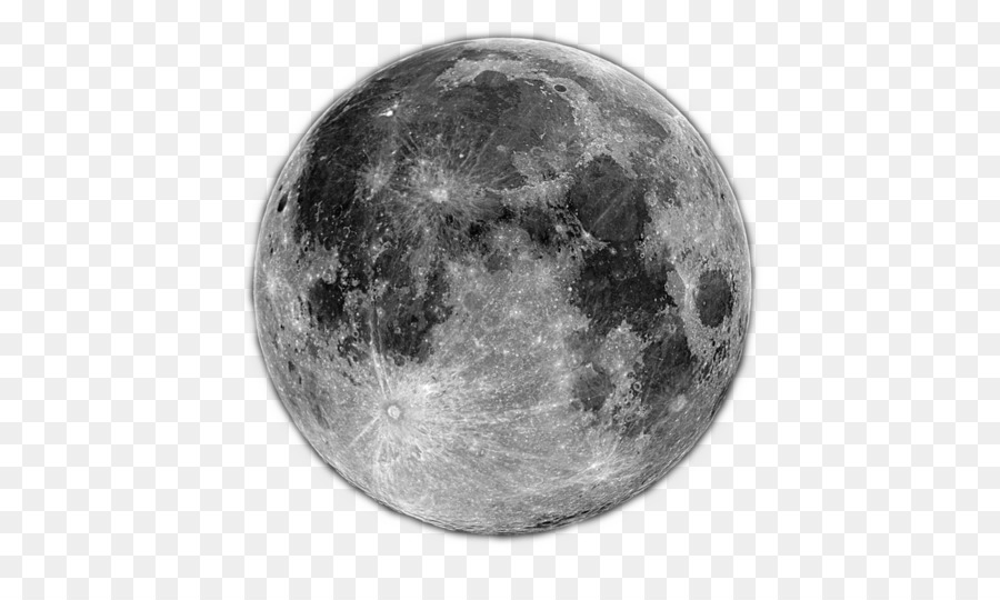 Full Moon PNG Black And White - 138500
