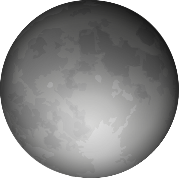 Full Moon PNG Black And White - 138496