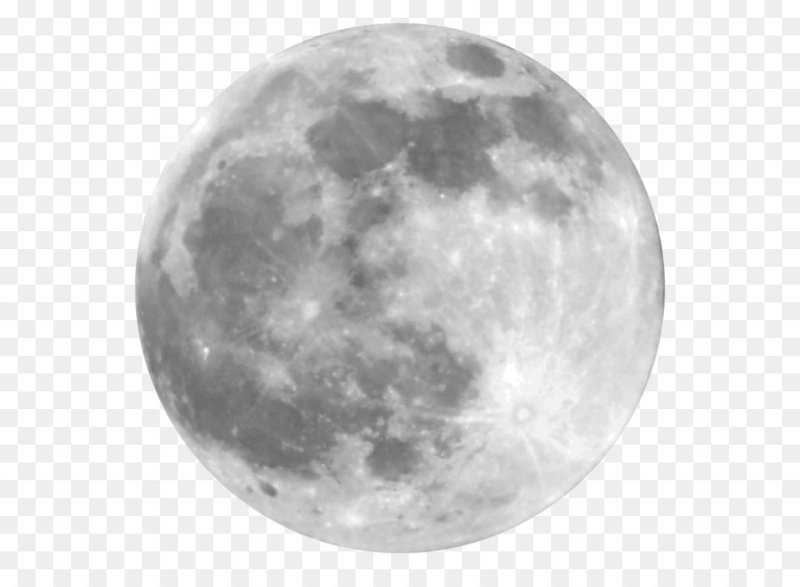 Full Moon PNG Black And White - 138497