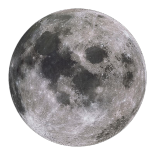 Full Moon PNG Black And White - 138503