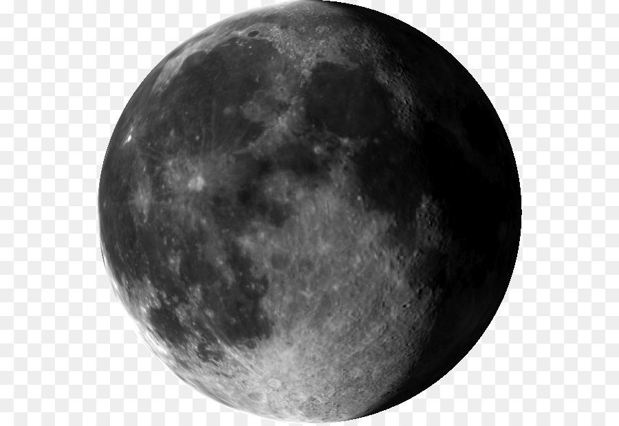Full Moon PNG Black And White - 138506