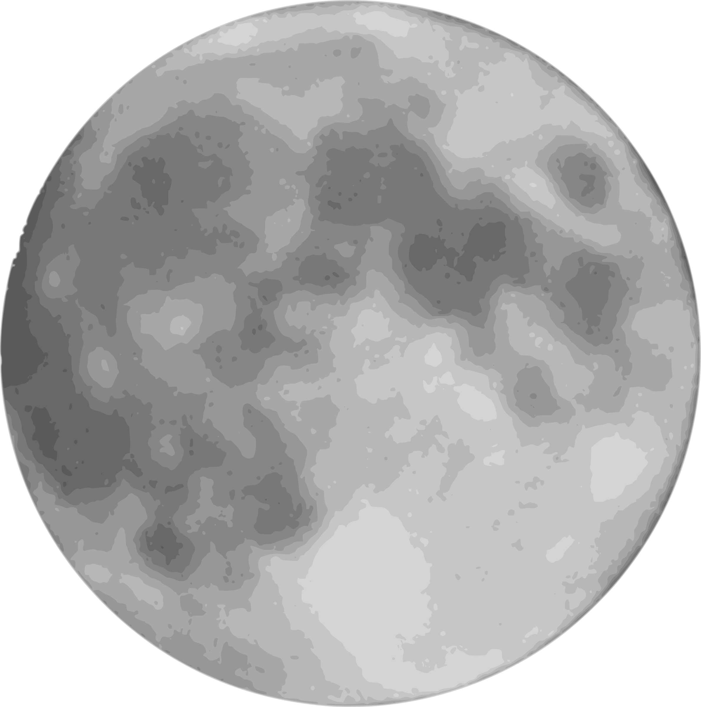 Full Moon PNG Black And White - 138486