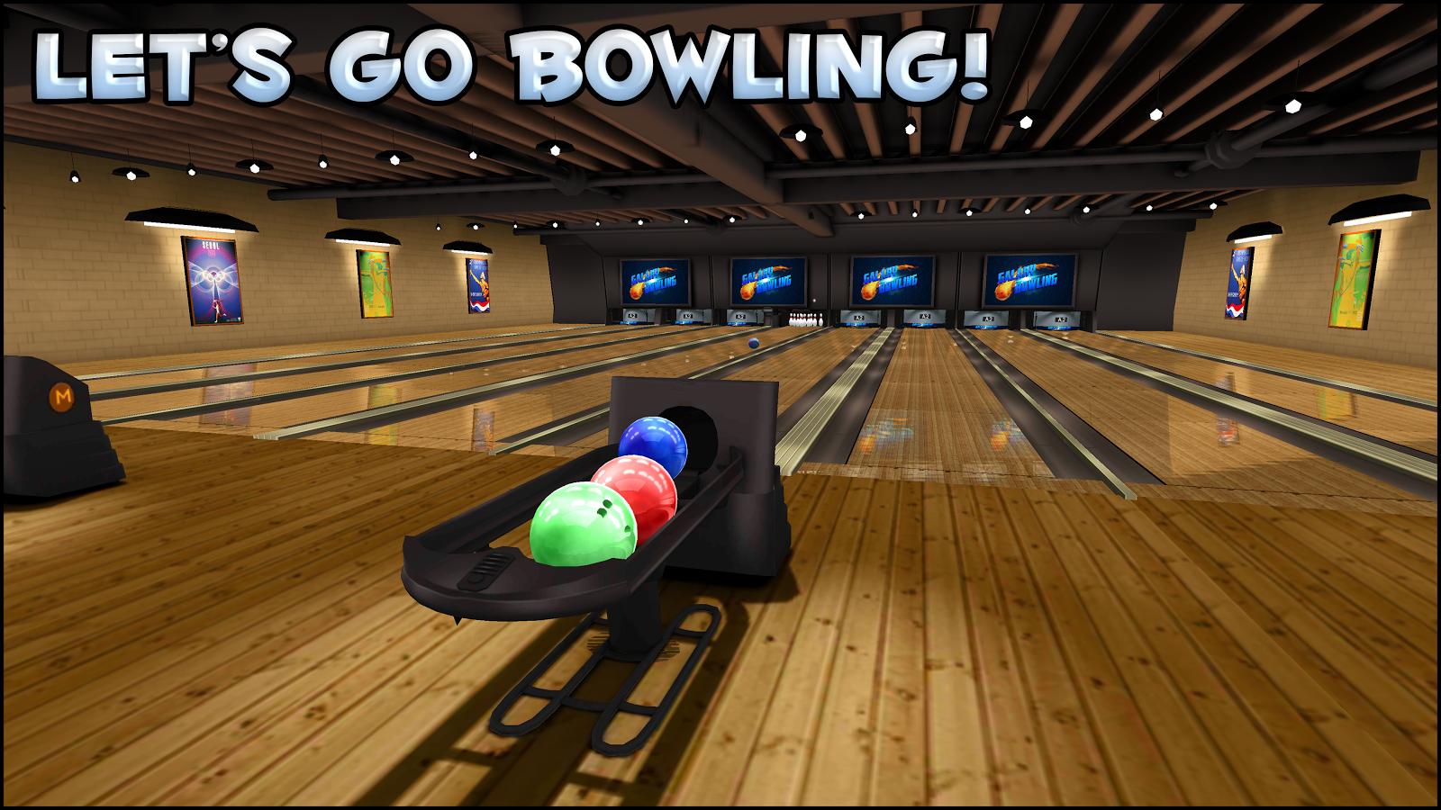 Galaxy Bowling 3D Free- scree