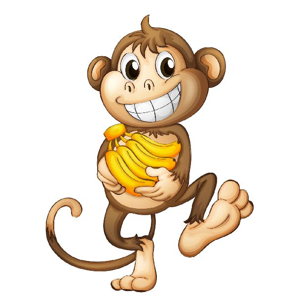 Funny Cartoon Monkey - Clipar