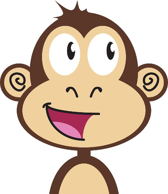 Cute Cartoon Monkeys - Funny Monkey PNG HD