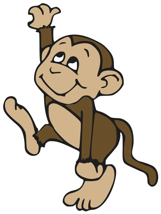 Cute Monkey Cartoons Pictures Cartoon Tattoo - Funny Monkey PNG HD