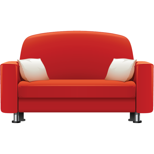 Red Sofa Furniture Icon Png image #2603 - Furniture PNG